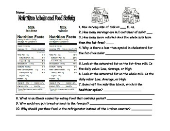 Nutrition Label Practice