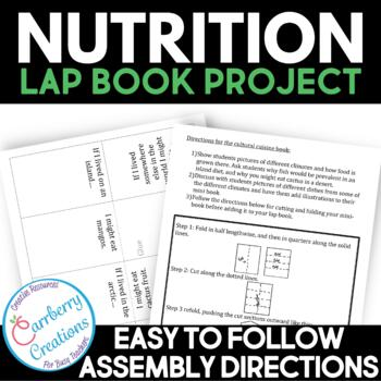 Healthy Eating and Nutrition Activities Lapbook