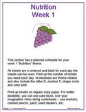 Nutrition - Lesson Plan