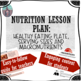 NUTRITION LESSON PLAN: Healthy Eating Plate, Macronutrients and Serving Sizes