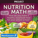 Nutrition Math - Projects & PBL