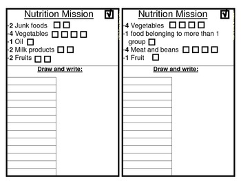 Nutrition Mission- (A nutrition hunt game)