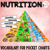 Nutrition Pocket Chart Vocabulary | EDITABLE