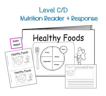 Nutrition Month Healthy Foods  Reproducible Book Healthy Habits Guided Reading
