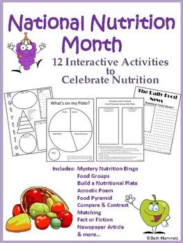 Nutrition Month By Beth Hammett The Educator Helper Tpt