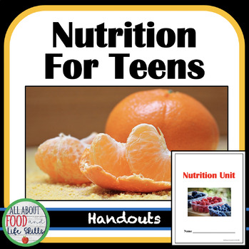 Nutrition Activities and Lessons- Focus Nutrients!