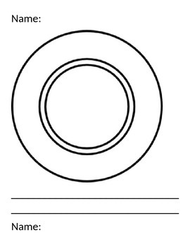 Nutrition Plate Writing Activity - Kindergarten Differentiated Opinion Writing