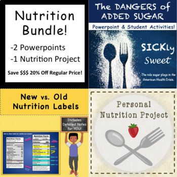 Nutrition Powerpoint & Project Bundle