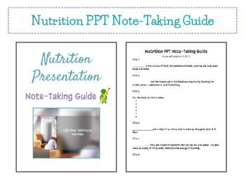 Nutrition Presentation & Note-Taking Guide - Fully Editable in Google Drive!