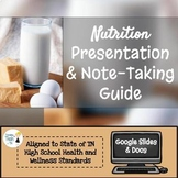 Nutrition Presentation & Note-Taking Guide - Fully Editabl