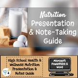 Nutrition Presentation & Notes Guide - Editable in Microso