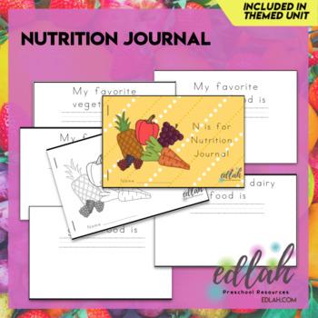 Nutrition Printable Journal