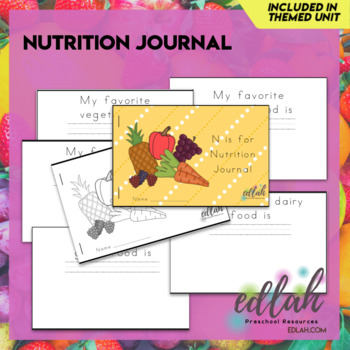 Nutrition Printable Journal