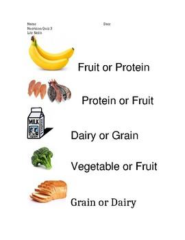 Nutrition Quiz 3