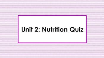 Nutrition Quiz