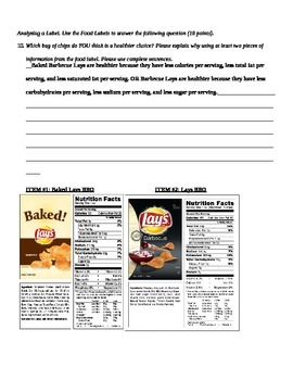 Nutrition Quiz and Answer Key