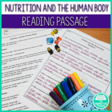 Nutrition: Reading Passage and Question Set for Struggling Readers