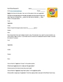 Nutrition Research Worksheet