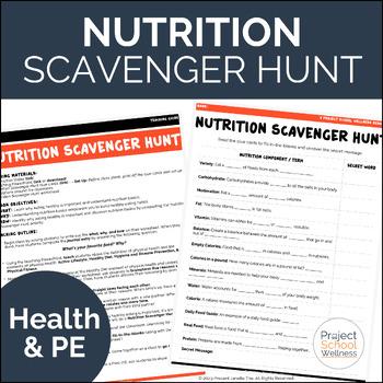 Nutrition Scavenger Hunt (Middle School Health & Wellness Lesson Plans)