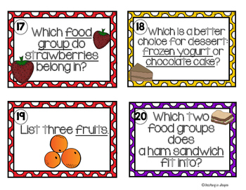 Basic Food Groups and Healthy Choices Scoot! Game