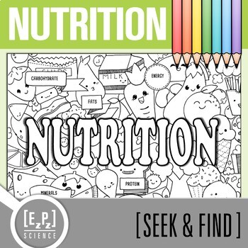 Nutrition Seek and Find Science Doodle Page