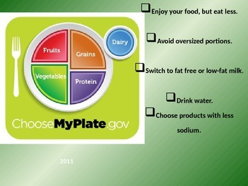 Nutrition Slideshow-Evolution of My Plate & 6 Nutrients for Health FACS Culinary