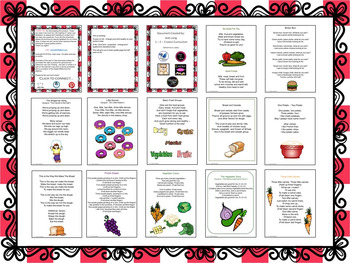 Nutrition Songs, Poems and Fingerplays
