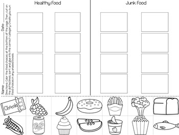 Nutrition Sort Freebie