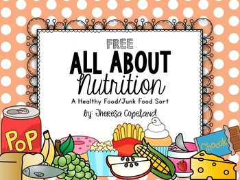 Nutrition Sort Freebie