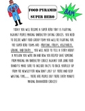 Nutrition Super Hero Writing Activity CCSS