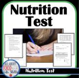 Nutrition Test: Focuses on the Major Nutrients