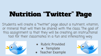 """Nutrition """"Twitter"""" Page"""
