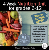 Nutrition Lessons: #1 Best Selling Teen Health Nutrtion Unit on TPT - 4 Weeks!