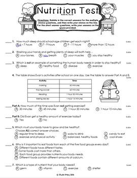Nutrition Unit Assessment BUNDLE