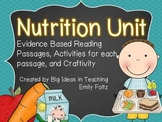 Nutrition Unit - Evidence Based Passages and Activities...JAM PACKED!!!