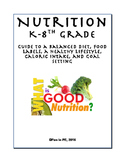Nutrition Unit Plan - Vitamins, Nutrients, Food Pyramid, Calories, Activities