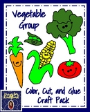 Nutrition: Vegetable Group: Color, Cut, and Glue Craft Pack