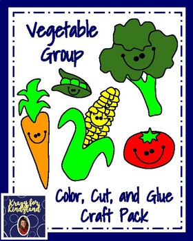 Vegetable Group Craft Pack (Nutrition, Plants, Harvest)