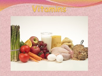 Nutrition: Vitamins one of the 6 Essential Nutrients