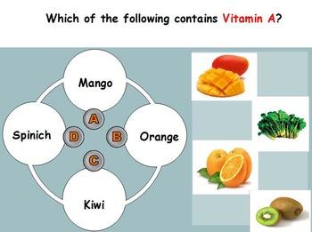 Nutrition - Vitamins w/worksheet (SMART BOARD)