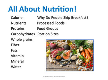 Nutrition Vocabulary PowerPoint
