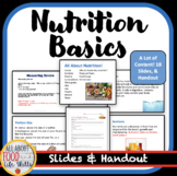 Nutrition Vocabulary Lesson- Great Information for Teens!