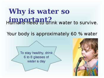 Nutrition: Water one of the 6 Essential Nutrients