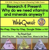 WebQuest Why We Need Vitamins & Minerals - Literacy in Science Distance Learning