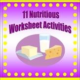 Nutrition Worksheet Pack