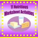 Nutrition Worksheet Pack