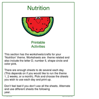 Nutrition Worksheets and Crafts