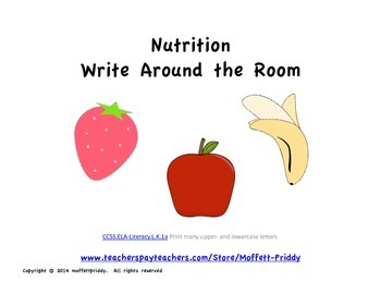 Nutrition Write Around the Room