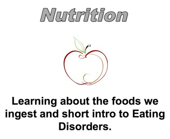 Nutrition and Body Image During Teen Years