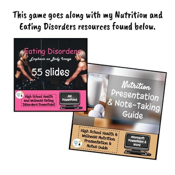 Nutrition and Eating Disorders Unit Pretest - Editable in Microsoft Word